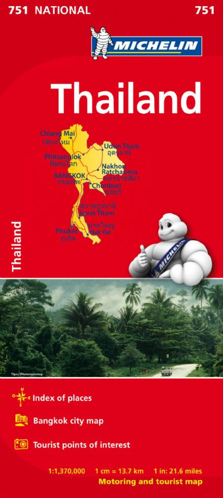 Thailand - Michelin National Map - 751